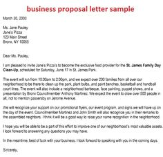 Business Proposal Letter Sample Pdf Templatezet Format Request