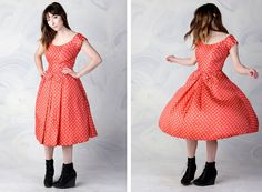 vintage 50's polka dot tulle party dress in pink silk women's xsmall small by foxandfawns, $58.00