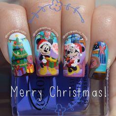 christmas mickey by andreitus_nails #nail #nails #nailart
