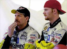 Dale Earnhardt with Dale Jr
