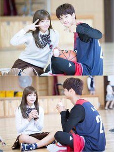 Hakyeon with Apink's Eunji, Sassy go go, Cheer up Sassy Go Go, Legend Of Blue Sea, N Vixx, Eunji Apink, Moorim School, Sea Wallpaper, K Drama, W Two Worlds, Korean Actors