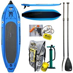 "Amazon.com : 2016 Boardworks Badfish MCIT 10-6 (10' 6"") Blue Inflatable Stand-Up Paddle Board Bundle (5 Items) Includes: Adjustable SUP Paddle + WindBone Kitesurf Lifestyle Decals + WBK Koozie + WBK Key Chain : Sports & Outdoors"