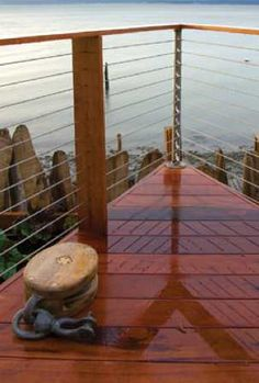 Okay.  I must have a non traditional railing.  I like it too much to not do so!
