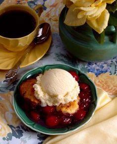 oh my gosh cherry cobbler rolls taste like an old fashioned cobbler ...