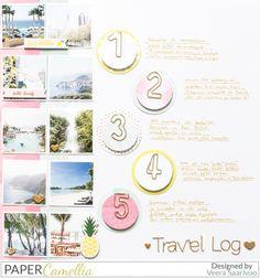 V-tyylillä: Paper Camellia: Travel log