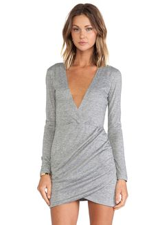 Shop Grey V Neck Ruched Wrap Front Dress online. Sheinside offers Grey V Neck Ruched Wrap Front Dress & more to fit your fashionable needs. Free Shipping Worldwide!