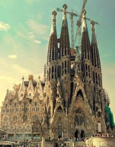 Sagrada Famlia in Barcelona, Catalua. If you go, be sure to book a ticket in advance online or prepare to wait in a very long long.