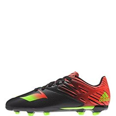 6a2a475155b4 adidas Messi 15.3 J Black Solar Green Solar Red Youth Soccer Cleats - model