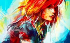 Hayley Williams women paintings redheads artwork drawings alice x zhang wallpaper   2560x1600   203327   WallpaperUP