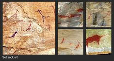 Images of San (bushmen) rock art that you can find on Shutterstock.
