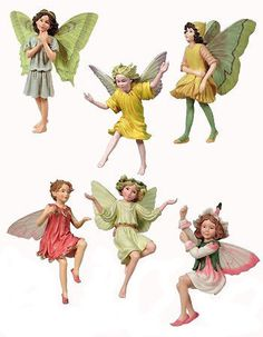 Flower Fairies Collection Favorites Assortment includes a set of six flower fairies. Fairy Box, Fairy Land, Fairy Garden Furniture, Pixie, Cicely Mary Barker, Fairy Gifts, Fairy Pictures, Fairy Figurines, Baby Fairy