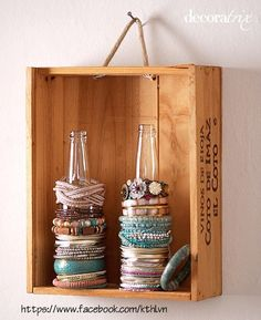 Great idea for bangle/bracelet storage!