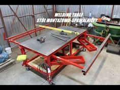 # WELDING TABLE BUILD # STÓŁ SPAWALNICZY MONTAŻOWY # DIY # - YouTube
