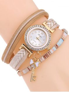 GET $50 NOW | Join RoseGal: Get YOUR $50 NOW!http://www.rosegal.com/watches/casual-layered-clover-key-watch-935388.html?seid=7976171rg935388