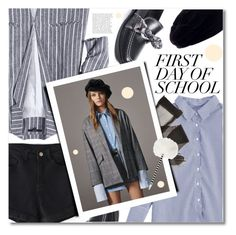 """""""Campus Chic: First Day of School"""" by svijetlana ❤ liked on Polyvore featuring NUVOLA, Zara TRF, Yves Saint Laurent, BackToSchool and zaful"""