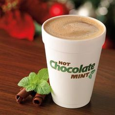 Dunkin Donuts : Hot Chocolate Mint