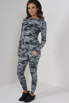 Megan McKenna Camouflage Knit Two Piece Tracksuit Online Shopping   Vavavoom.ie