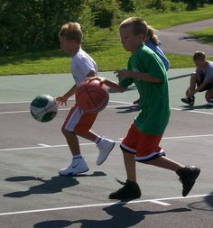 Basketball is a great physical activity helps keep a child active and children can bond with other children.