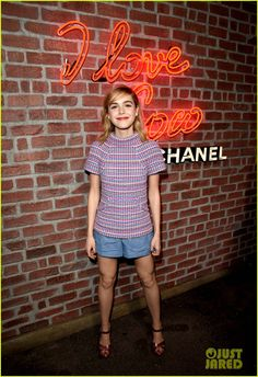 Kiernan Shipka attending Chanel's I Love Coco Backstage Beauty Lounge event on Thursday (February 25) at Bar Marmont in Los Angeles
