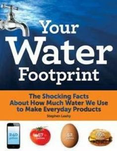 Check out the Water Footprint of your celebration. The Shocking Facts About How Much Water We Use to Make Everyday Products. Get about and Book by Stephen Leahy at Firefly Books Water Saving Tips, Water Footprint, True Cost, World Water, Shocking Facts, Slice Of Bread, My Escape, Book Show, Care About You