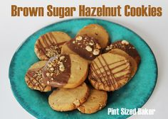 Brown sugar hazelnut cookies