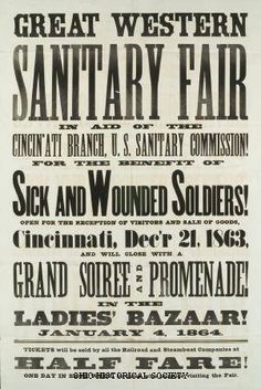 Cincinnati Sanitary Fair poster