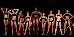 The images below show an incredible variety of women, ranging in weight, height, race and proportion. What they all have in common is that they are professional athletes at their physical peak.
