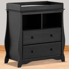 Black Changing Table Dresser Combo Home Furniture Design