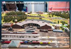 Eisenbahnmagazin Modelleisenbahnanlage Schiefe Ebene - Minitrix