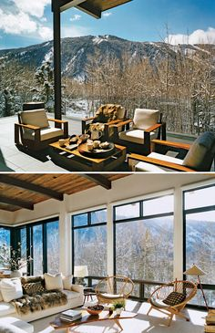 Absolutely incredible windows in this Aspen home | Cozy Winter Cabins