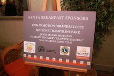 We Love our Sponsors! Santa Breakfast Sponsor- Kids In Motion / Brandae Lopez. Santa Breakfast, Sky Zone, Leukemia And Lymphoma Society, Trampoline Park, Club Kids, How To Raise Money, Lions, The Voice, Electric