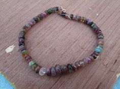 """At Factory Price, 8"""" Full strand ,Multi Tourmaline Smooth Rondelle Gemstone Organic beads(D2810) ,100% Natural by JaiVyavsayBeads on Etsy"""