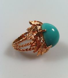 1960's Vintage Faux Turquoise Cocktail Ring by thepopularjewelry, $25.00