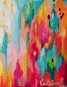 """8""""x10"""" original acrylic abstract painting on 1/2"""" gallery wrapped canvas"""