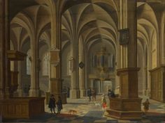 Interior of St Cunerakerk, Rhenen. National Gallery London