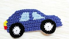 Aplique de Crochê em Carro - /  Apply than Crochet up Car -