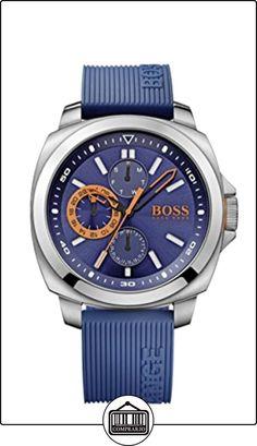 BOSS Orange Brisbane - Reloj de cuarzo para hombre, correa de silicona color azul de  ✿ Relojes para hombre - (Gama media/alta) ✿