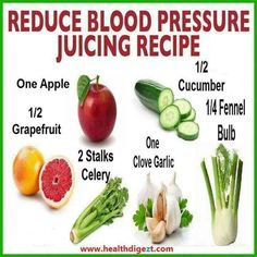 Reduce blood pressure with this simple juice recipe!  I would replace the garlic with ginger.