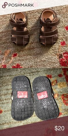 See Kai Run Jude sandals EUC See Kai Run Jude sandals. Brown leather size 3. My son wasn't walking yet when he wore these so they look practically new. See Kai Run Shoes Sandals & Flip Flops