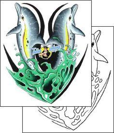 Dolphin Tattoo marine-life-dolphin-tattoos-gary-davis-g1f-00250