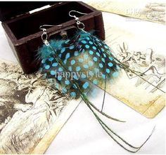 Cheap Fashion Jewelry - Wholesale Peacock Feather Earings Fashion Jewelry Long Feather Earrings Online