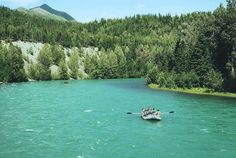 Yes, the water in the Kenai River in Alaska really is this #green.  #GalaxyGreen.
