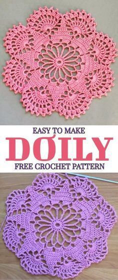 Easy To Make Doily Free Crochet Pattern - At the first sight this beautiful croc. Easy To Make Doily Free Crochet Pattern - At the first sight this beautiful Easy To Make Doily Free Crochet Pattern - Yarnandhooks Lavender sachets -- crochet motif -- set o Free Crochet Doily Patterns, Crochet Motifs, Thread Crochet, Crochet Designs, Free Pattern, Crochet Ideas, Crochet Stitches, Knitting Patterns, Free Knitting