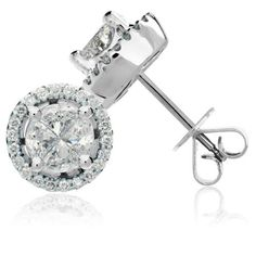 1.76 Carat 18kt White Gold Quattour for Amoro Diamond Earrings