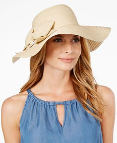 August Hats Bow Floppy Hat