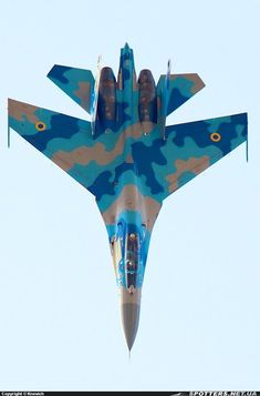 Military Aircraft — The Ukrainian Air Force in vertical fall Fighter Aircraft, Fighter Jets, Russian Jet, Aircraft Painting, Sukhoi, Beautiful Nature Wallpaper, Military Aircraft, Military Army, Armored Vehicles
