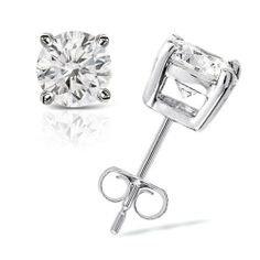 1/4 cttw Round Diamond 4-Prong Stud Earrings Platinum (J-K Color, I2-I3 Clarity) Banvari. $378.50. All diamonds used in our jewelry are conflict free and 100% in compliance with the Kimberly Code of Conduct.. This product comes with a FREE Luxurious Cherrywood Gift Box.. All our gold items are responsibly sourced and the majority is made from environmentally processed recycled gold.. Made in USA, comes with a FREE certificate of authenticity.. Free Priority Shipping and 30-day...