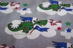 Janeas World Baumwolljersey Jersey JANEAS WORLD Drachen Dragon Sterne Stars Wolken