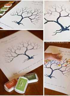 Free thumbprint tree template. by Chrissy Haynes