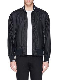 RAG & BONE - 'Tracker' cotton twill bomber jacket | Black Bomber Jackets Jackets | Menswear | Lane Crawford - Shop Designer Brands Online